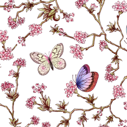 ポーセラーツ転写紙:ORIENTAL FLOWER (オリエンタル フラワー)