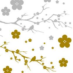 ポーセラーツ転写紙:JAPONISM (ジャポニズム・メタリックゴールド&メタリックシルバー)