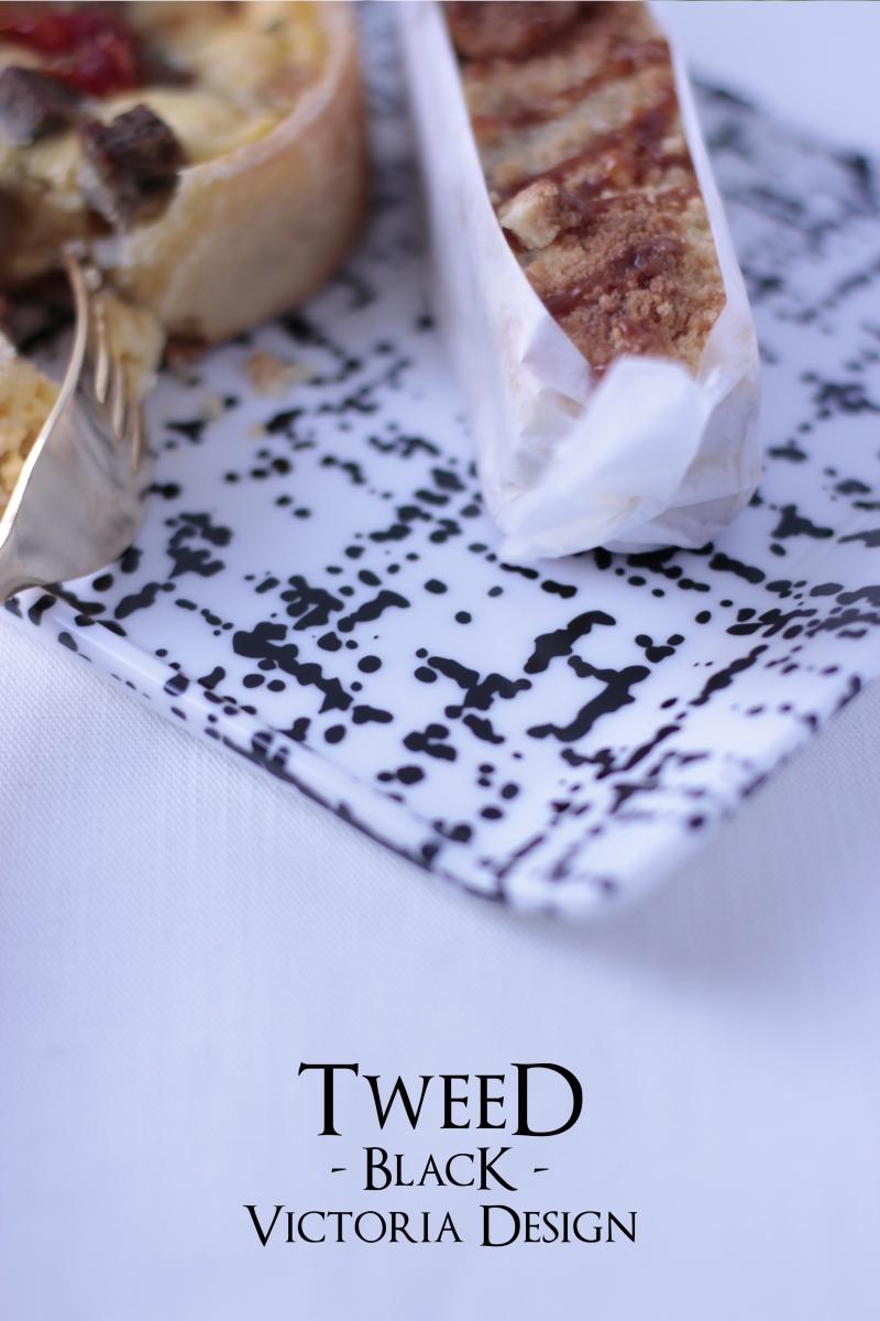 ポーセラーツ転写紙:TWEED(ツイード・ブラック)