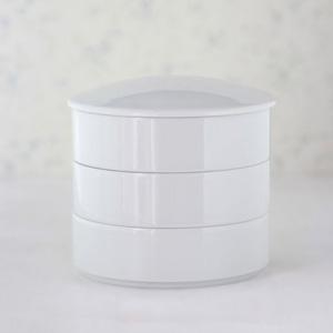 ポーセラーツ白磁:三段重