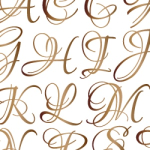 ポーセラーツ転写紙:LOUNA ALPHABET [LL] (ルナアルファベット・ブライトゴールド)