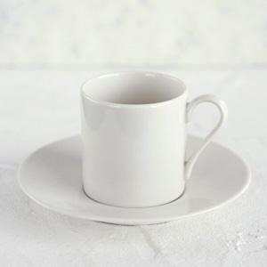 ポーセラーツ白磁:コーヒーカップ&ソーサーII