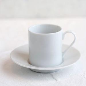 ポーセラーツ白磁:デミタスカップ&ソーサーIII