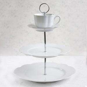 ポーセラーツ白磁:エタージェラ(カップ&ソーサー)