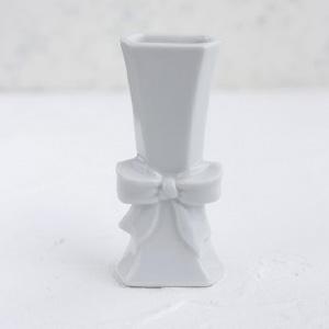 ポーセラーツ白磁:リボンベース