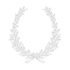 ポーセラーツ転写紙:FRAME LEAF (フレームリーフ・プラチナ)