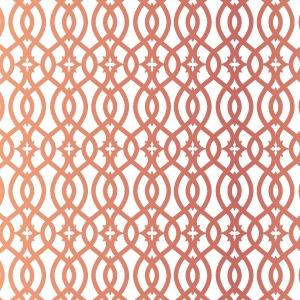 ポーセラーツ転写紙:GEOMETRY (ジオメトリー/幾何学模様・メタリックピンクゴールド)