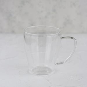 ポーセラーツ白磁・グラス:ガラスマグ