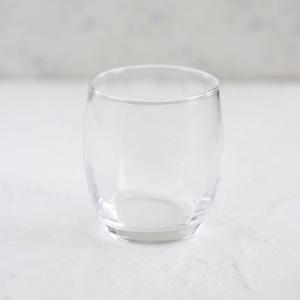 ポーセラーツ白磁・グラス:ラウンドグラスタンブラー