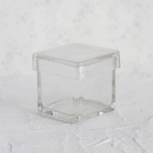 ポーセラーツ白磁・ガラス:ガラススクエアBOX (L)