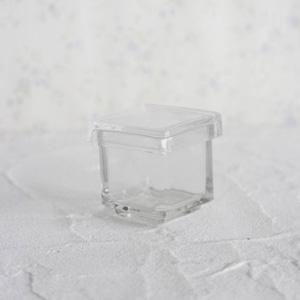 ポーセラーツ白磁・ガラス:ガラススクエアBOX (S)