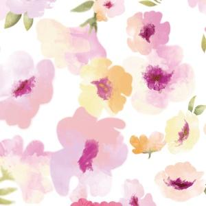 ポーセラーツ転写紙:LADY FLOWER (レディフラワー・パステルピンク)
