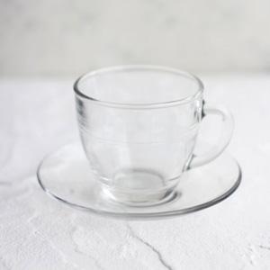 ポーセラーツ白磁・グラス:ミラージュカップ&ソーサー