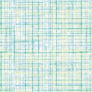 ポーセラーツ転写紙:PLAID TWEED (プレイドツイード・ブルー&グリーン)