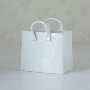ポーセラーツ白磁:ショッピングバッグ [M]